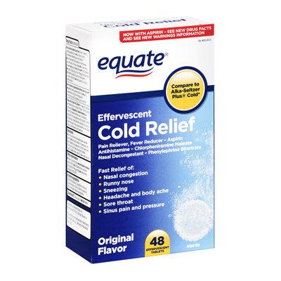 Equate Cold Relief Original Flavor Effervescent Tablets