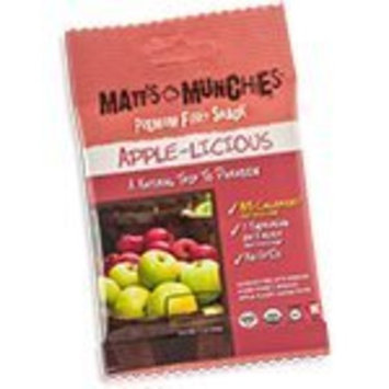 Matt's Munchies Organic Apple - Licious Fruit Snack 12 pack
