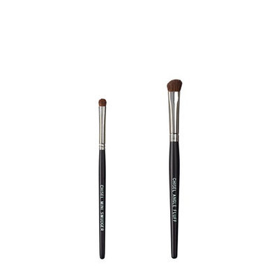 VEGAN LOVE The Chisel Collection Make Up Brush Set (Chisel Mini Smudger Chisel Angle Fluff)