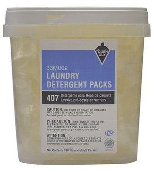 TOUGH GUY 33M002 HE Laundry Detergent, Pouches, PK130