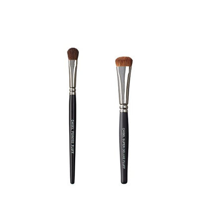 VEGAN LOVE The Chisel Collection Make Up Brush Set (Chisel Pointed Fluff Super Deluxe Fluff)
