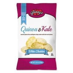 Glenny's Quinoa & Kale Gluten Free Multi Grain Chips, White Cheddar, 5 oz Bag