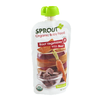 Sprout Organic Baby Food Root Vegetables with Beef