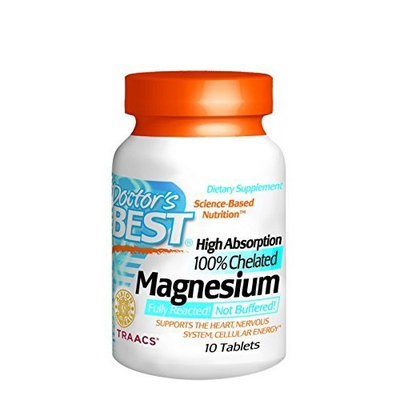 Doctor's Best High Absorption Magnesium Trial Size Doctors Best 10 Tabs