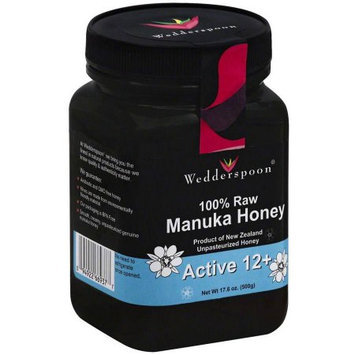 Wedderspoon 100% Raw Manuka Honey Active 12 Plus, 17.6 Ounce
