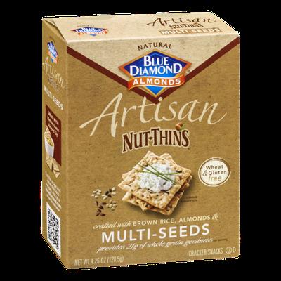 Blue Diamond Almonds Artisan Nut-Thins Multi-Seeds Cracker Snacks