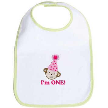 CafePress Newborn I'm One! Monkey Girl Bib
