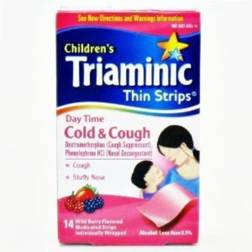 Triaminic Daytime Cold & Cough Thin Strips-14 ct