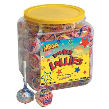 Mega Smarties Lollies, Mega, 60 Count 4 lbs 1 oz.