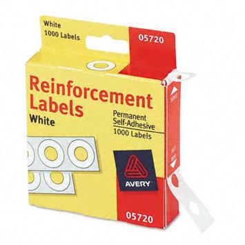 Kmart.com Avery Polyvinyl Hole Reinforcements, White, 1,000/Pk
