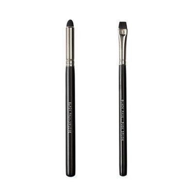 Makeover Vegan Love Black Faux Duo Brush Set