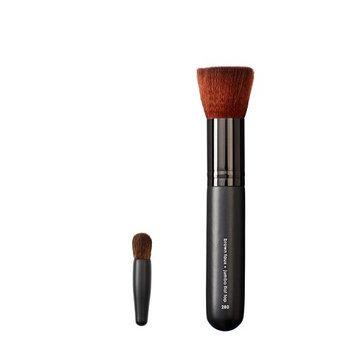 Makeover Vegan Love Mini Eye Buki and Jumbo Flat Top Brush