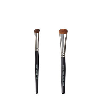VEGAN LOVE The Chisel Collection Make Up Brush Set (Chisel Angle Fluff Super Deluxe Fluff)