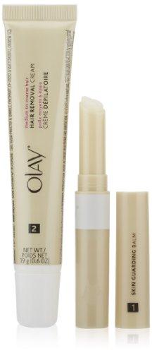 Olay Smooth Finish Facial Hair Removal Duo Medium to Coarse Hair Kit