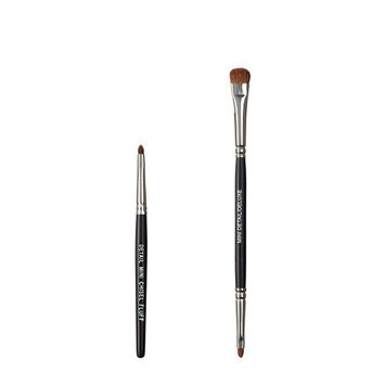 VEGAN LOVE The Chisel Collection Make Up Brush Set (Chisel Detail Mini Fluff Duo Detail Deluxe)