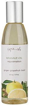 Spa...ah Massage Oil - Rejuvenation (Ginger-Grapefruit-Basil) - 6 oz