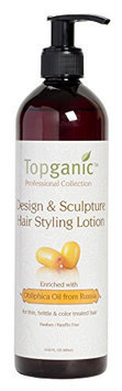 Topganic Design and Sculpture Hair Styling Lotion with Obliphica Oil