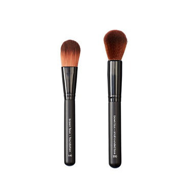 Makeover Vegan Love Foundation Brush and Rounded Face Brush