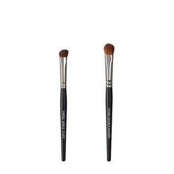 VEGAN LOVE The Chisel Collection Make Up Brush Set (Chisel Angle Fluff Chisel Double Shader)