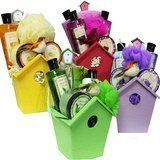 Art of Appreciation Gift Baskets A Little Birdy Told Me Spa Bath and Body Gift Basket Set