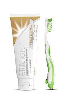 White Glo Coffee and Tea Drinkers Whitening Toothpaste with Bonus X Action Toothbrush
