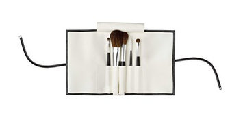 Da Vinci Brush Cosmetic Set in Faux Leather Soft Case and Free Cotton Bag for Traveling