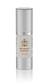Vitamin C 20% Serum Hope & Power by Nuriss C - Delivers Brightness and Youthful and Tight Looking Skin - Wrinkle Treatment and Collagen Stimulation