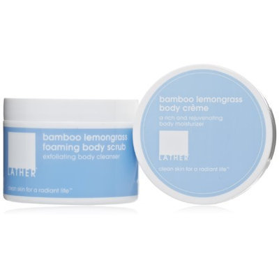 LATHER Bamboo Lemongrass Body Smoothing Duo