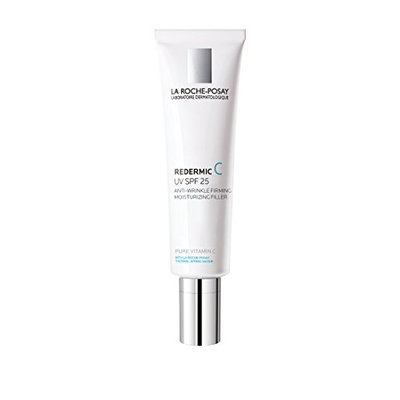La Roche-Posay Redermic C UV SPF 25 Anti-Wrinkle Firming Facial Moisturizer with Vitamin C and Hyaluronic Acid