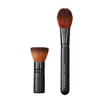 Makeover Vegan Love Mini Wide Flat Top and Pointed Face Brush