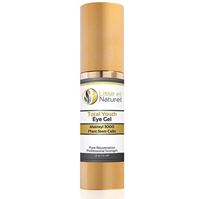 Lisse et Naturel Total Youth Eye Gel - Eye Cream For Dark Circles Puffiness and Wrinkles