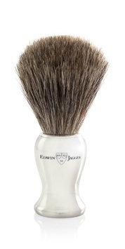 Edwin Jagger Nickel Plated Pure Badger Shaving Brush