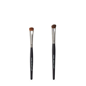 VEGAN LOVE The Chisel Collection Make Up Brush Set (Chisel Deluxe Fluff Chisel Angle Fluff)
