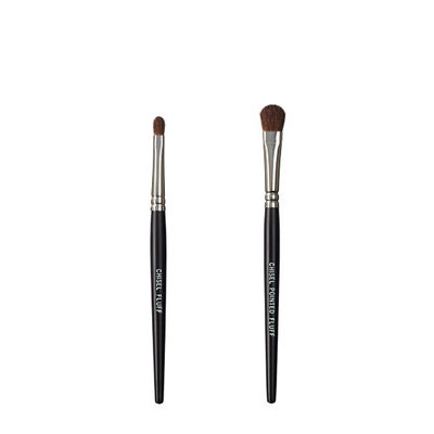 VEGAN LOVE The Chisel Collection Make Up Brush Set (Chisel Fluff Chisel Pointed Fluff)