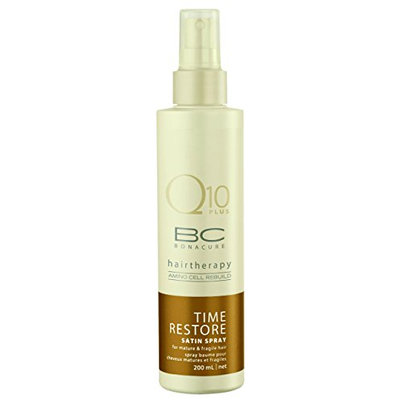 Schwarzkopf BC Bonacure Q10 Time Restore Satin Spray Conditioner for Mature and Fragile Hair 200ml/6.8oz
