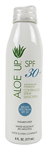Aloe Up Sun and Skin Care Products White Collection SPF 30 Continuous Spray Sunscreen
