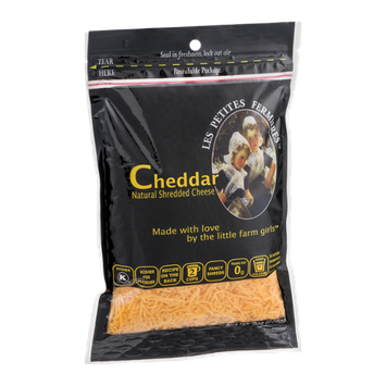 Les Petites Fermieres Cheddar Shredded Cheese