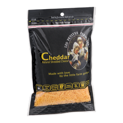 Les Petites Fermieres Cheddar Shredded Cheese