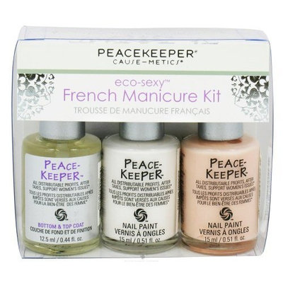 Peacekeeper Cause Metics Kits French Manicure Kit 3 pc