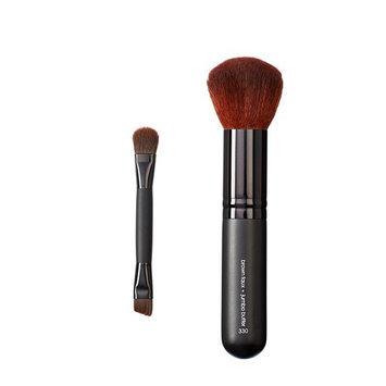 Makeover Vegan Love Duo Mini Eye and Jumbo Buffer Brush