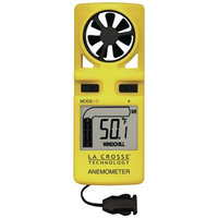 La Crosse Technology Handheld Backlit Anemometer with Neckstrap EA-3010U