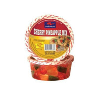 Pennant Cherry Pineapple Mix, Whole Cherries, Wedged P/A, 8 Ounce Tubs (Pack of 4)