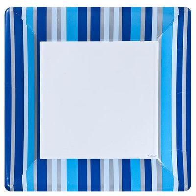King Zak Ind Lillian Tablesettings 22315 Blue Stripe 10 in. Square Plate - 576 Per Case