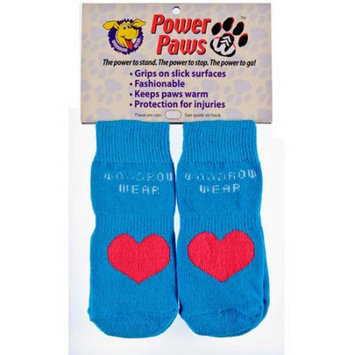 Woodrow Wear Power Paws Advanced Small Blue/Red Heart