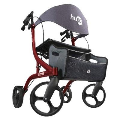 Hugo Adjustable Lightweight Side-Fold Rollator with Seat