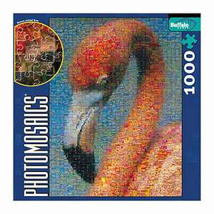 Photomosaics Jigsaw Puzzle - Flamingo: 1000 pc Ages 10 and up