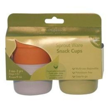 green sprouts Sprout Ware Infant Snack Cups and Lid 4 Pack - Petroleum Free! Made From Plants! (Boys' Colors)