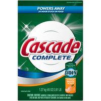 Cascade Citrus Breeze Scent All In 1 Complete Dishwasher Detergent