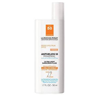 La Roche-Posay Anthelios 50 Mineral Tinted Ultra-Light Tinted Sunscreen Fluid for Face