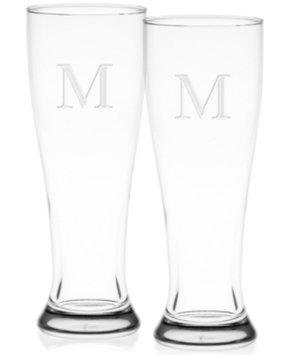 Culver Monogram Pilsner Glasses, Set of 2